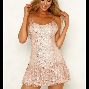 Hello Molly Pink Sequin Party Dress